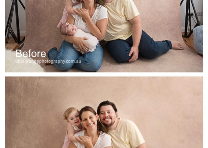Baby Photographer Gold Coast – Before and After Shots
